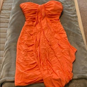 Orange Bebe dress